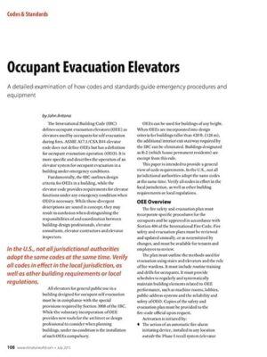 2015 July Occupant Evacuation Elevators