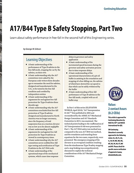 2018 October A17/B44 Type B Safety Stopping, Part Two