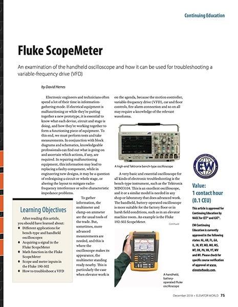 2018 December Fluke ScopeMeter